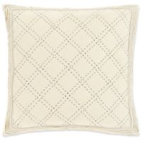 Surya Kojo European Pillow Sham in Cream/Grey
