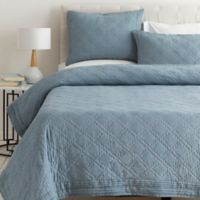 Surya Kojo Full/Queen Duvet Cover Set in Denim/White