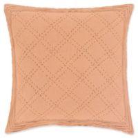 Surya Kojo European Pillow Sham in Camel/Dark Brown