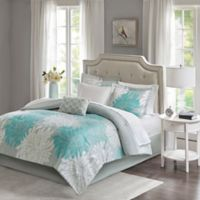 Madison Park Essentials Maible 9-Piece Queen Comforter Set in Aqua