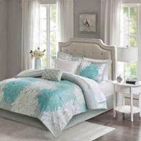 Madison Park Essentials Maible 7-Piece Twin Comforter Set in Aqua