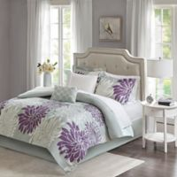 Madison Park Essentials Maible 9-Piece California King Comforter Set in Purple