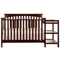 Dream On Me Chloe 5-in-1 Convertible Crib with Changer in Espresso