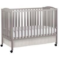 Dream On Me Folding Full Size Crib in Steel Grey