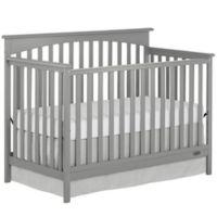 Dream On Me Davenport 5-in-1 Convertible Crib in Steel Grey