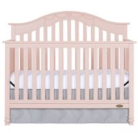Dream On Me Charlotte 5-in-1 Convertible Crib in Pink Blush