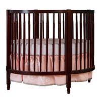 Dream On Me Sophia Posh Circular Crib in Espresso