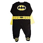 Warner Bros.® Size 0-3M Batman Coverall and Cape in Black