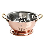 Prime Gourmet 5.7-Inch Copper Plated Stainless Steel Mini Colander