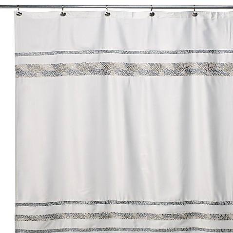 Croscill 174 Spa Tile 54 Inch X 78 Inch Fabric Shower Curtain