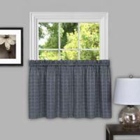 Achim Sydney 24-Inch Kitchen Window Curtain Tier Pair in Grey