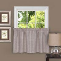 Achim Sydney 24-Inch Kitchen Window Curtain Tier Pair in Linen