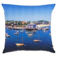 Southern Tide® Skipjack Harbor Scene Photo Throw Pillow