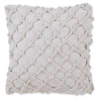 Southern Tide® Knotted Rope Square Throw Pillow in White