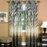 Achim Kenya 84-Inch Rod Pocket Window Curtain Panel in Brown