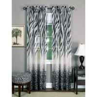 Achim Kenya 63-Inch Rod Pocket Window Curtain Panel in Black