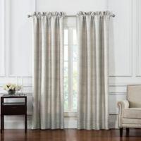 Waterford® Bainbridge Pole Top Window Curtain Panels in Linen