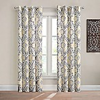 Design Solutions Caleb 84-Inch Grommet Light-Filtering Window Curtain Panel in Grey