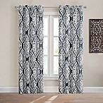 Design Solutions Caleb 84-Inch Grommet Light-Filtering Window Curtain Panel in Navy
