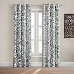 Design Solutions Caleb 84-Inch Grommet Light-Filtering Window Curtain Panel in Spa