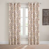 Design Solutions Caleb 108-Inch Grommet Light-Filtering Window Curtain Panel in Spice