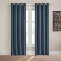 Design Solutions Caleb 84-Inch Solid Grommet Light-Filtering Window Curtain Panel in Navy