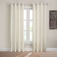 Design Solutions Caleb 84-Inch Solid Grommet Light-Filtering Window Curtain Panel in Ivory