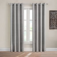Design Solutions Caleb 63-Inch Solid Grommet Light-Filtering Window Curtain Panel in Grey