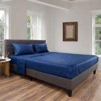 Nottingham Home Brushed Microfiber Twin Sheet Set in Navy