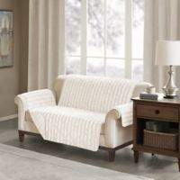 Madison Park Duke Faux Fur Loveseat Protector in Champagne