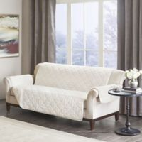 Madison Park Arctic Long Faux Fur Sofa Protector in Ivory