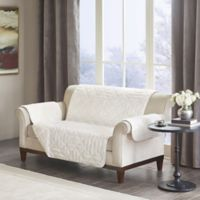 Madison Park Arctic Long Faux Fur Loveseat Protector in Ivory