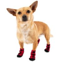Pawslife™ Buffalo Check Dog Socks in Red (Set of 4)