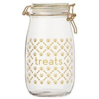 Global Amici Royal Paw Large Dog Treats Jar in Gold