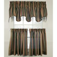 Montego Stripe 36-Inch Window Curtain Tier Pair