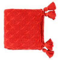 Surya India Throw Blanket in Burnt Orange