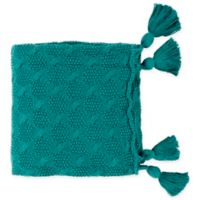 Surya India Throw Blanket in Teal