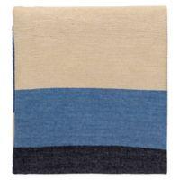 Surya Meadowlark Throw Blanket in Blue/Navy