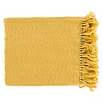 Surya Thelma Throw Blanket in Bright Yellow