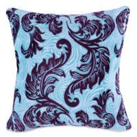 Berkshire Blanket® VelvetLoft® Feathered Damask Square Throw Pillow in Purple