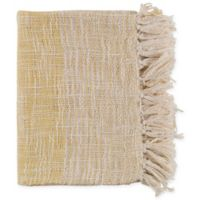 Surya Kymani Throw Blanket in Yellow/Cream