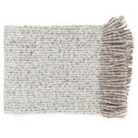 Surya Madurai Throw Blanket in Taupe/White
