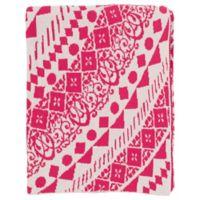 Surya Ekena Throw Blanket in Pink/Cream