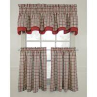 Bristol Plaid 45-Inch Window Curtain Tier Pair
