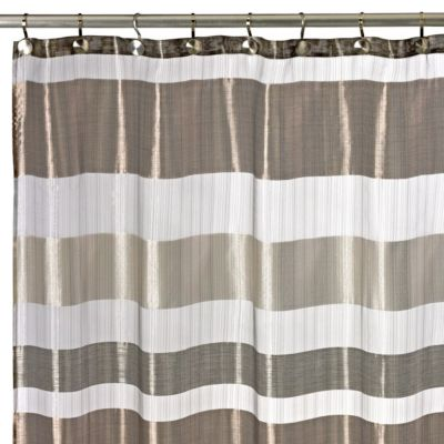 Metallic Stripe 72 Inch X 72 Inch Shower Curtain