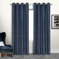 Brighton 63-Inch Grommet Blackout Window Curtain Panel in Navy