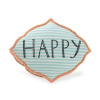 """Molly Hatch """"Happy Thoughts"""" Throw Pillow in Blue"""