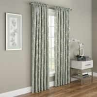 Dogwood Blossom 63-Inch Rod Pocket Room Darkening Window Curtain Panel in Green