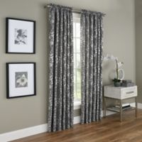 Dogwood Blossom 63-Inch Rod Pocket Room Darkening Window Curtain Panel in Grey