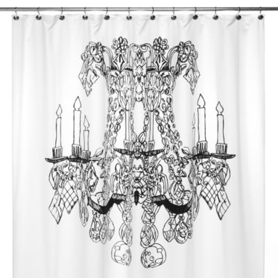 Chandelier 72 Inch X 72 Inch Shower Curtain